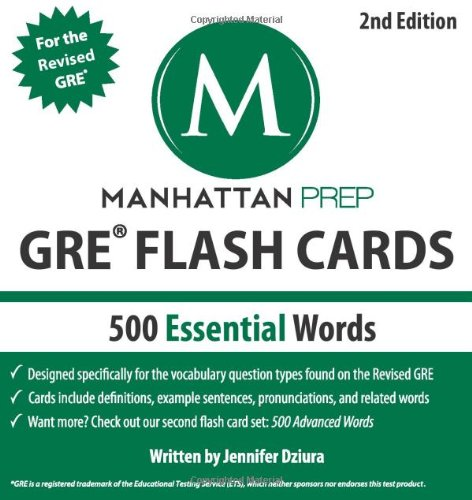 500 Essential Words: GRE Vocabulary Flash Cards (Manhattan Prep) por Manhattan Prep