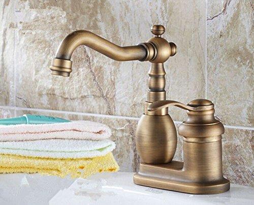 UHM Ottone vasca da bagno rubinetto singolo sink di Impugnatura