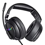 XIBERIA Xbox one Headset, PS4 Headset, Gaming Kopfhörer mit LED Licht, 3.5mm Surround Stereo Gaming Headsets, für PC, Laptop, Schau Video, Online Spiele, mit flexibler Mikrofon Lautstärkeregelung