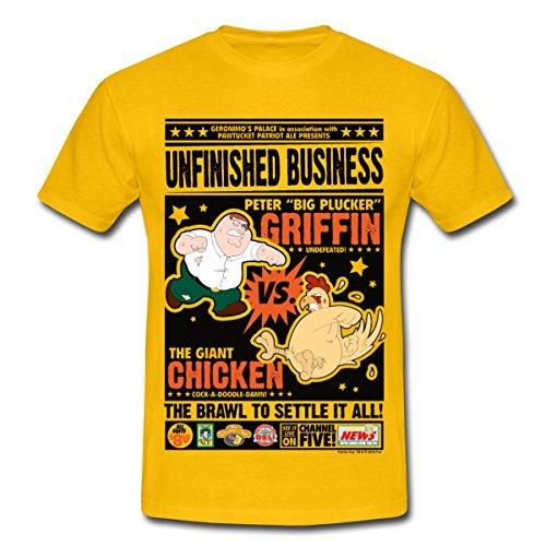 les-griffin-family-guy-peter-contre-poule-t-shirt-homme-de-spreadshirtr-m-jaune