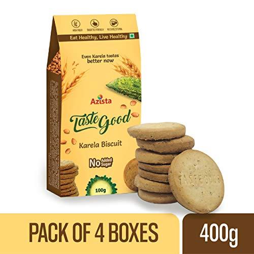 Taste Good Sugar-Free Digestive Protein Snack Karela Biscuits- Pack of 4