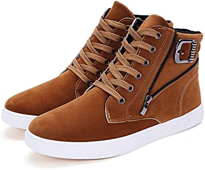 Jiuyue-scarpe, Estate Autunno 2018 Scarpe da ginnastica per per per uomo con tacco piatto in tinta unita (Coloree   Marronee... | Benvenuto  | Scolaro/Signora Scarpa  d9079c