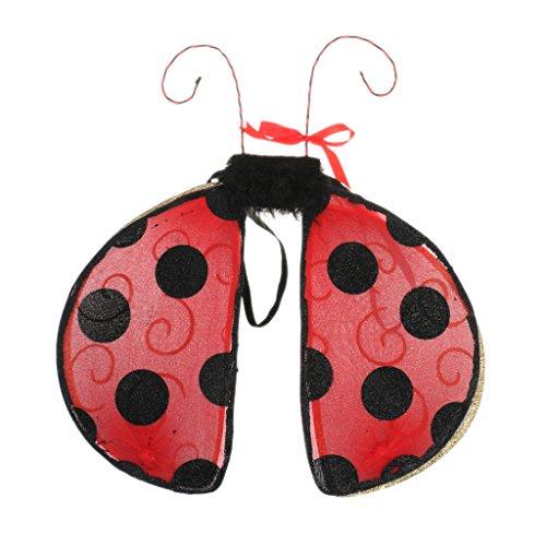 Sharplace Glitter Insekt Flügel für Kinder Kostüm - - Machen Ein Marienkäfer Kostüm