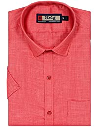 Helg Formal Linen Plain Solid Full Sleeves Comfort Fit Shirt For Men