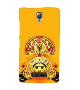 HiFi Designer Phone Back Case Cover Lenovo A2010 ( Ma Durga Bengal Hindu God Jai Mata Di Colorful )