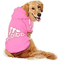 DULEE adidog Hund Warme Hoodies Mantel Jumpsuit Haustier Kleidung Jacke Pullover Baumwolle Pullover Outwear