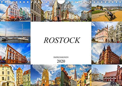 Rostock Impressionen (Wandkalender 2020 DIN A4 quer): Zwölf einmalig schöne Bilder der Stadt Rostock (Monatskalender, 14 Seiten ) (CALVENDO Orte)