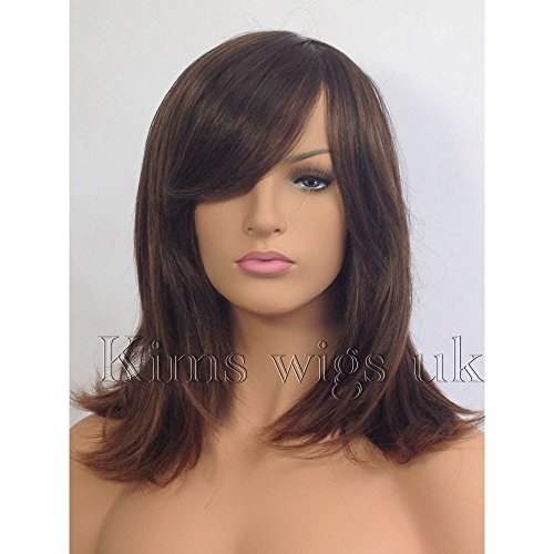 Kims Wigs Ladies Womens Two Tone Brown Face Frame Shoulder Length Wig by Kims Wigs (Frames Ton)