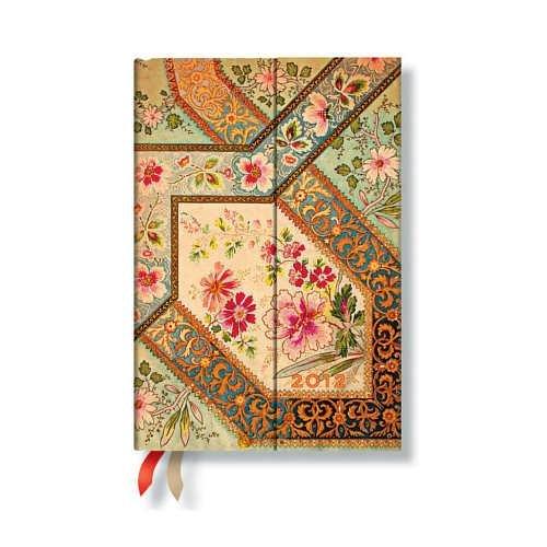 2012 Filigree Floral Ivory Midi Diary - 400 Iu Öl