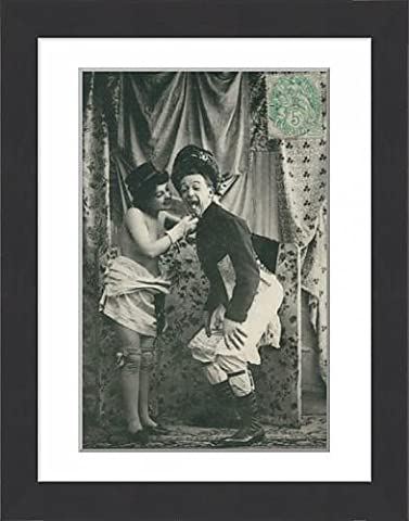 Framed Print of French couple seduction sequence