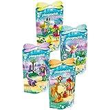 Playmobil Amigos de las hadas - Set contiene: 9138 las cigüeñas, 9139 los mapaches, 9140 el búho y la mofeta, 9141 los pequeños ciervos