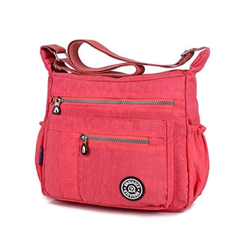 TianHengYi ,  Damen Umhängetaschen , Pink - rose - Größe: Medium (Tote Junior Black Handtaschen)