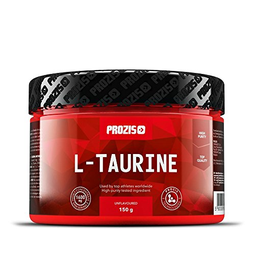 Prozis L-Taurine Poudre 150g - Acide Aminé Complément pour Apporter un Soutien au Coeur, Muscle et Cerveau - Booster Efficace d'Energie - 93 Doses