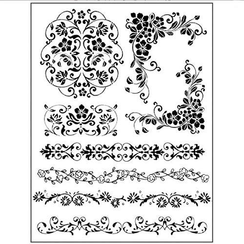 Zita`s Creative Gummistempel 14x18cm - Borders. Motivstempel, Rubber Stamp -