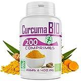 Curcuma Bio - 400mg - 200 Comprimés - Bio Atlantic