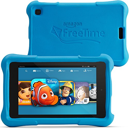 Fire HD 6 Kids Edition, 15,2 cm (6 Zoll), HD-Display, WLAN, 8GB, Blau Kindgerechte Schutzhülle - Hd Fire 9 Fall Kindle
