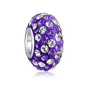 Bling Jewelry Silber Swarovski Kristall Lila Streifen Streifen