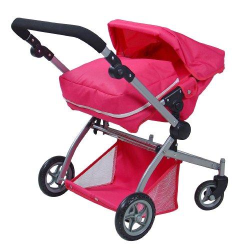 Knorr 90588 Twenty4 - Cochecito de bebé de Juguete con diseño de Mariposa, Color Rosa