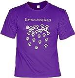 Achtung: Katzenstampfzone Katzen T-Shirt mit Zweibeiner Besitz-Urkunde