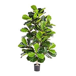Pianta artificiale Ficus lyrata, altezza 130cm - 108 foglie
