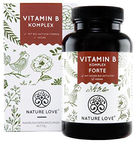 Vitamin B Komplex Forte Kapseln - 180 Stück im 6 Monatsvorrat. Bis zu 10-fach höher dosiert als...