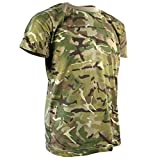 Kombat UK Kids Camo T-Shirt, British Terrain Pattern, 5-6 Years