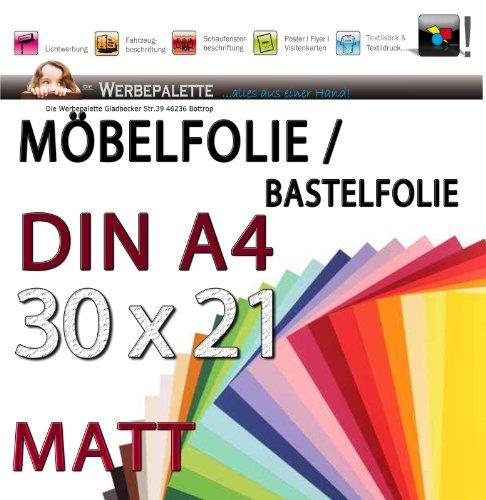 Eur 15 87 Quadratmeter Bastelfolie Din A4 Bogen 21cm X 30cm Pvc Selbstklebende Folie Matt Weiss 3126 Möbelfolie