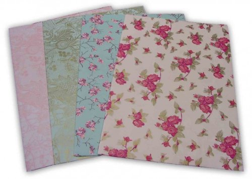 8-tlg. Set Paper-Patch Papier, Decoupage ELEGANT jeweils 30 x 42 cm