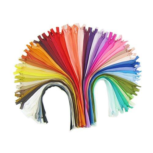 18pcs 40cm chiusure lampo in nylon colorato cerniere invisibili fai da te artigianale da cucire