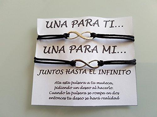 SET de 2 pulseras Infinity, pulsera del infinito, pulsera pareja, mejor amigo, regalo, regalo BFF, pulsera de hermanas