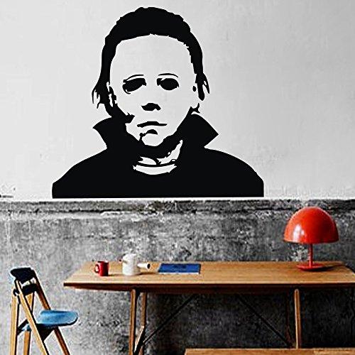 Wandaufkleber, Vinyl, Motiv Halloween - Michael Myers - 36 hx40 w - schwarz (Schwarzes Vinyl Halloween-motive)