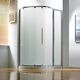 Bathroom Supastore Kudos Original Offset Curved Sliding Shower Enclosure 1270 x 910 with Concept 2 Shower Tray Right Hand