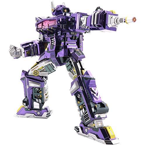 MU Transformers Shockwave G1 3D Metall Puzzle Modell Kits DIY 3D Laserschnitt Modell-Bausatz Spielzeug YM-L047 - Serie Transformers G1