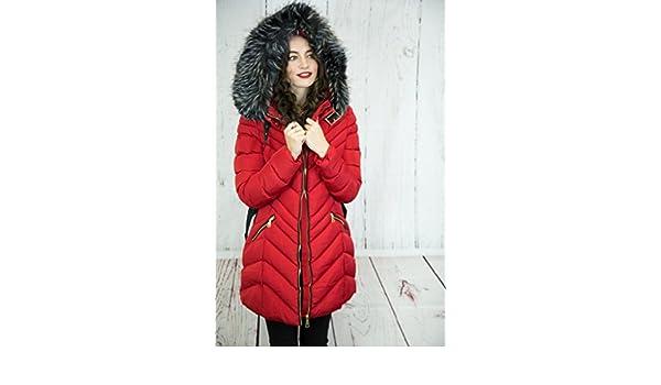 Rouge Blouson 42 Vêtements Femme Red Wulux qEZAn6Uq