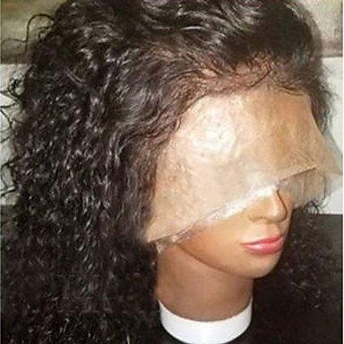 Densité de 130% de qualité supérieure bouclés Lace Front Cheveux brésiliens Perruques avec cheveux de bébé naturelle au niveau 100% Brésilien Cheveux humains pour Afro-américains
