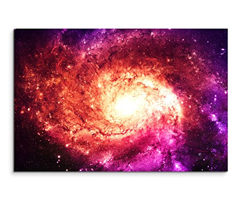 Leinwandbild Illustration – Magenta Galaxie auf Leinwand exklusives Wandbild moderne Fotografie für ihre Wand in vielen Größen