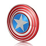 Excel Productions Captain America Metal Shield Spinner Hand Spinner, Red