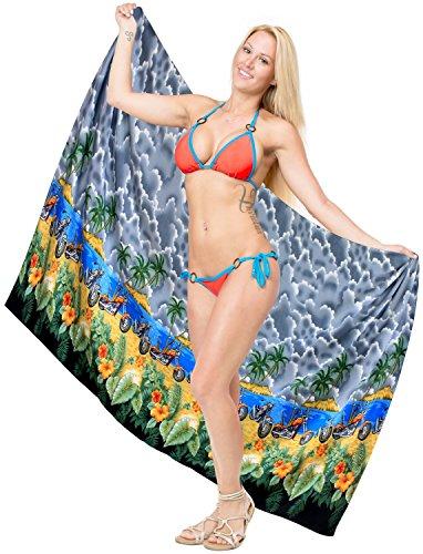 costume da bagno sarong delle donne costume da bagno costumi da bagno involucro pareo bikini località gonna coprire beachwear Grigio
