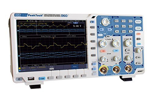 PeakTech All-in-One Touchscreen DSO 2-Kanal 100 MHz Digital Speicheroszilloskop mit 20 cm Touch- Farb-TFT Anzeige, 1 Stück, P 1360