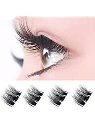 Faux Cils 3D Magnétique, Oyedens Parfaits Cils Ultra-mince 0.4 mm Magnetic Eye Lashes 3D Reusable False Aimant Naturel Faux Cils (Noir 0269)