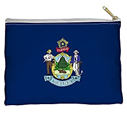 Maine Flag USA United States National State Flags Accessory Pouch