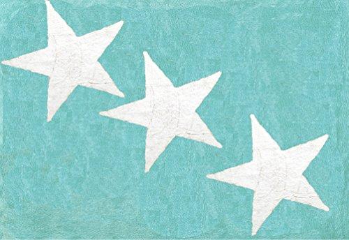 ARATEXTIL  ALFOMBRA INFANTIL 100% ALGODON LAVABLE EN LAVADORA COLECCION EUROPA MINT 120X160 CMS