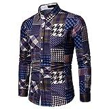 Freizeithemd Herren Slim Fit Sannysis Karohemd Kariert Langarmshirt Oberteil Thermohemd Business Party Shirt für Männer