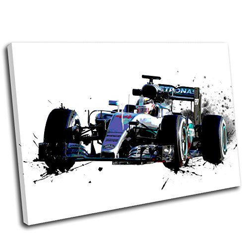 Canvas Culture–Lewis Hamilton Formula One Leinwand Wand Kunstdruck Bild, 120x80cm