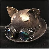 YAJIE 9 Estilo Retro Lolita Damas Hombres Steampunk Dome Hat Gafas Sombrero  de Copa Sombrero de ab1b1335ca7