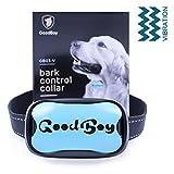 Hunde trainingshalsband für kleine und mittelgroße Hunde mit Vibration. Kontrolle von übermäßigem Bellen mit diesem einfachen Antibell Halsband. Sicher und human ohne Schock (GoodBoy, Blau)