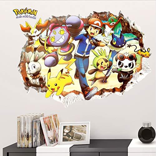 Dessin animé Pokemon Go 3D Smashed Stickers Muraux Pépinière Enfants Chambres Anime Décor Pvc Décorations pour La Maison Affiche Salon Decal