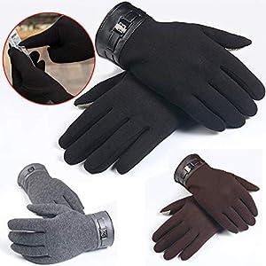 RFGHATG Winter Men's Touch Screen Gloves Full Finger Mobile Phone Gloves Thick Warm Gloves Mittens Business Gloves