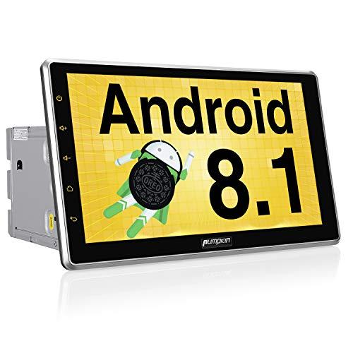 PUMPKIN Android 8.1 Autoradio Moniceiver mit Navi 10,1 Zoll Bildschirm Unterstützt Bluetooth DAB+ USB Android Auto WLAN 4G MicroSD 2 Din Universal