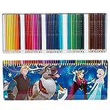 Disney La Reine des neiges Dfr8–600Crayons de Couleur Boîte en métal 50pièces, Bleu